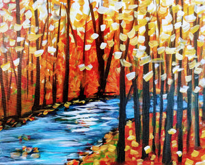 Fall Stream Paint Kit (8x10 or 11x14)