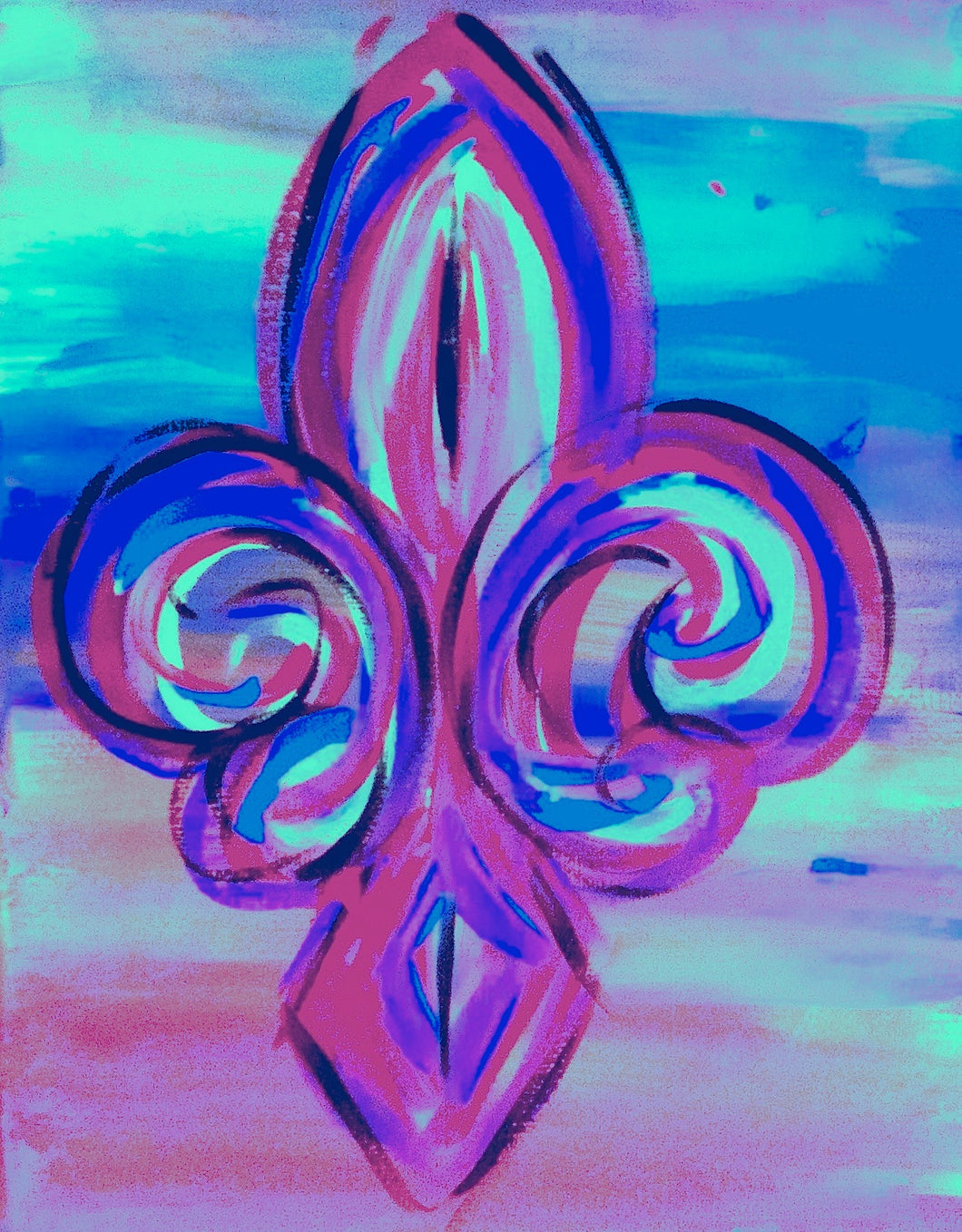 Fleur De Lis Purple Paint Kit (8x10 or 11x14)