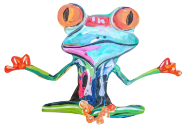 Frog Peace Paint Kit (8x10 or 11x14)