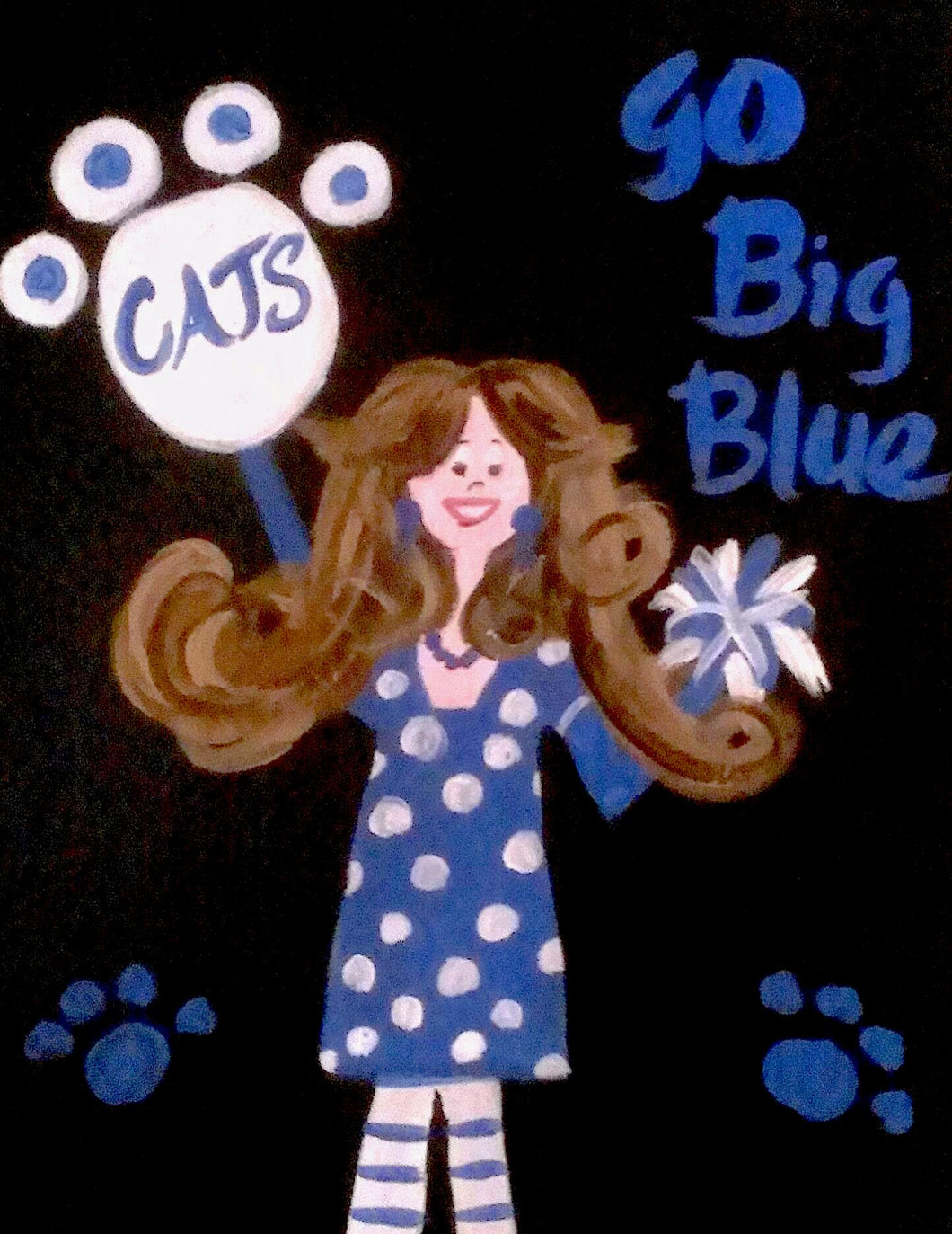 Go Big Blue Girl Paint Kit (8x10 or 11x14)