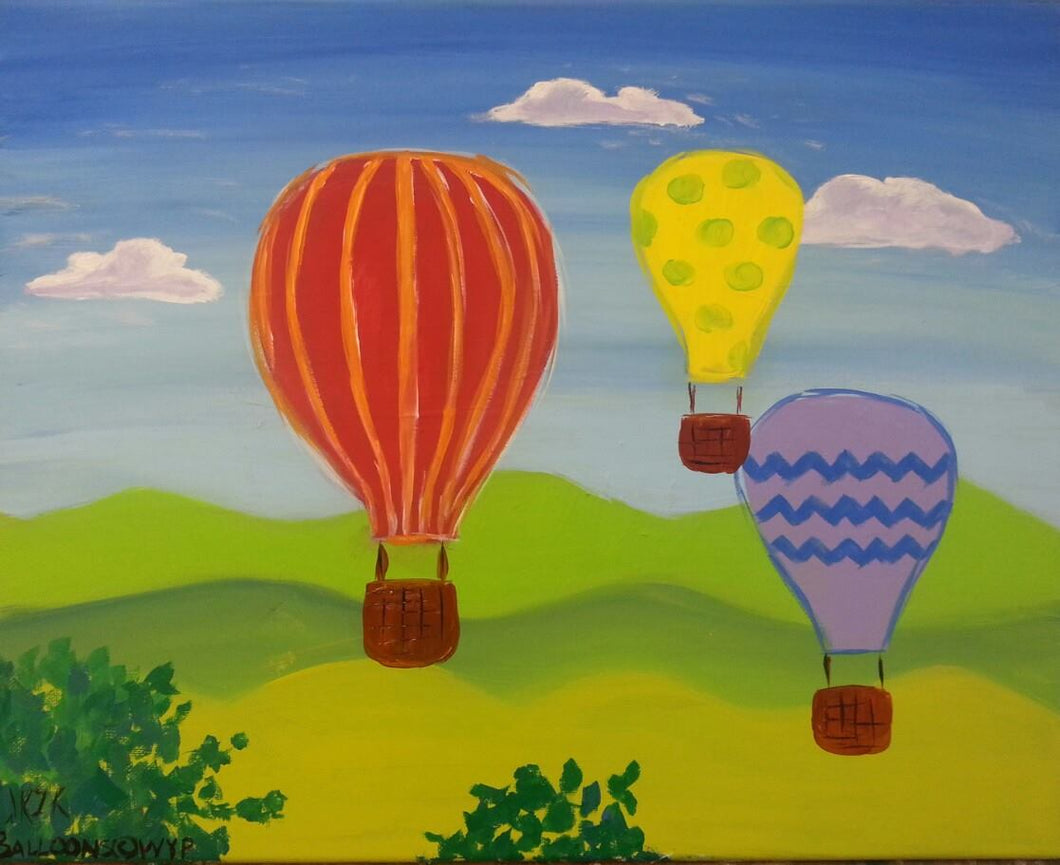 Hot Air Balloons Paint Kit (8x10 or 11x14)