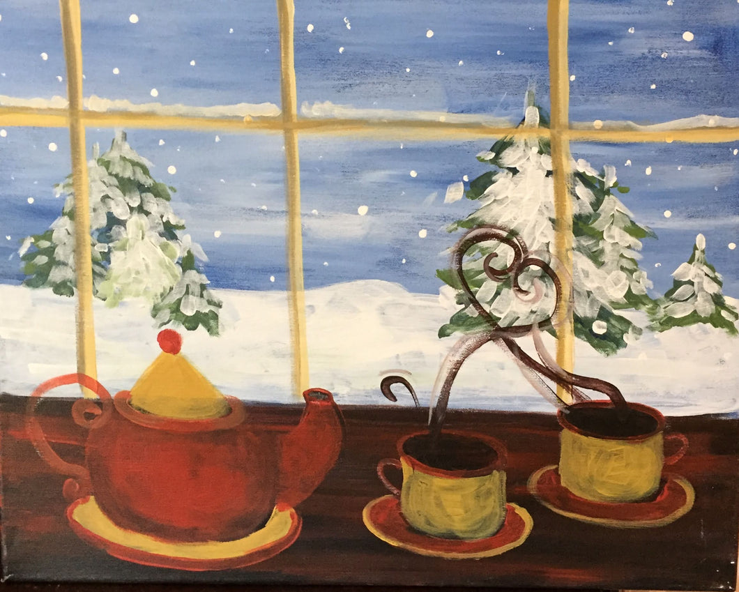 Tea by Snowy Window