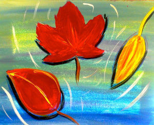 Leaves on Water Paint Kit (8x10 or 11x14)