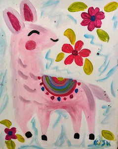 Llama Girl Paint Kit (8x10 or 11x14)