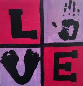 Love Prints Paint Kit (8x10 or 11x14)