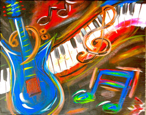 Music Time Paint Kit (8x10 or 11x14)