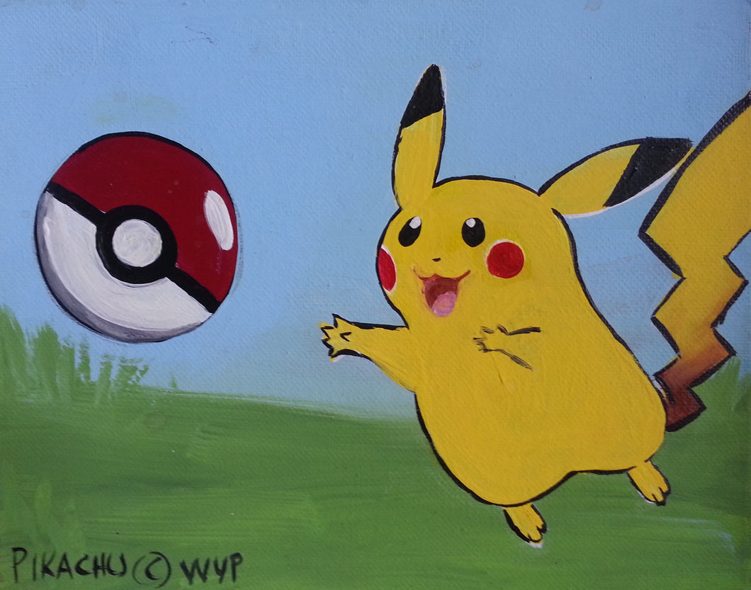 Pikachu Paint Kit (8x10 or 11x14)
