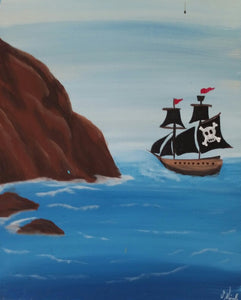 Pirate Ship Paint Kit (8x10 or 11x14)