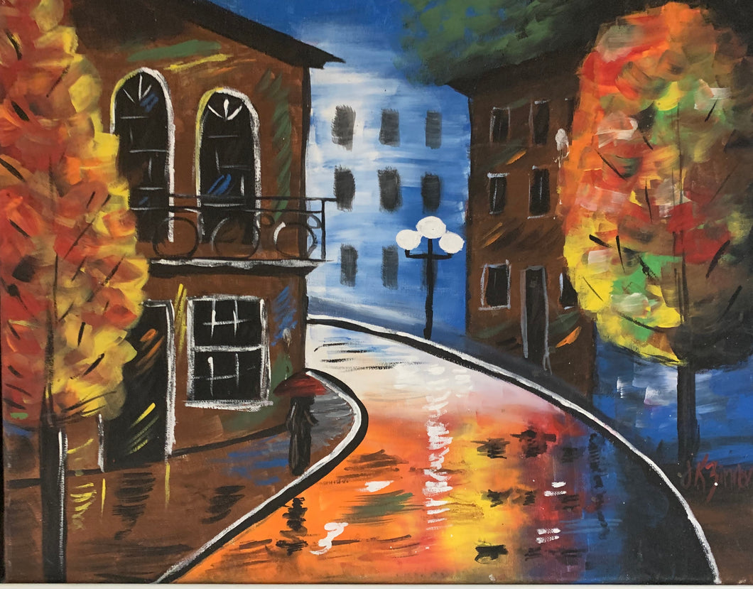 Rainy Night Paint Kit (8x10 or 11x14)