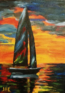 Sailboat Sunset Paint Kit (8x10 or 11x14)