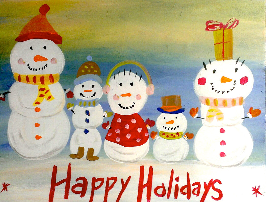 Snowman Family Paint Kit (8x10 or 11x14)