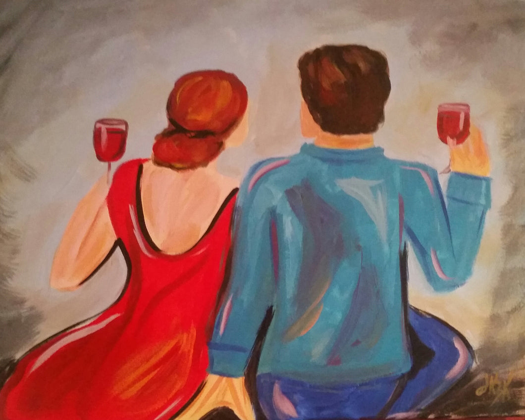 Together With Wine Paint Kit (8x10 or 11x14)