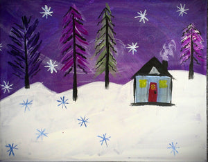 Winter Night Paint Kit (8x10 or 11x14)