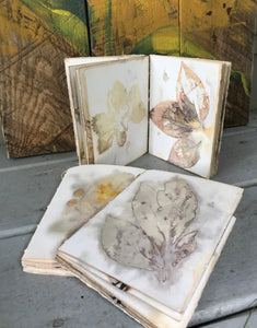 HANDMADE PLANT STAINED PAPER JOURNALS