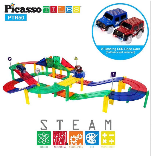 50 Piece Race Track Building Blocks
