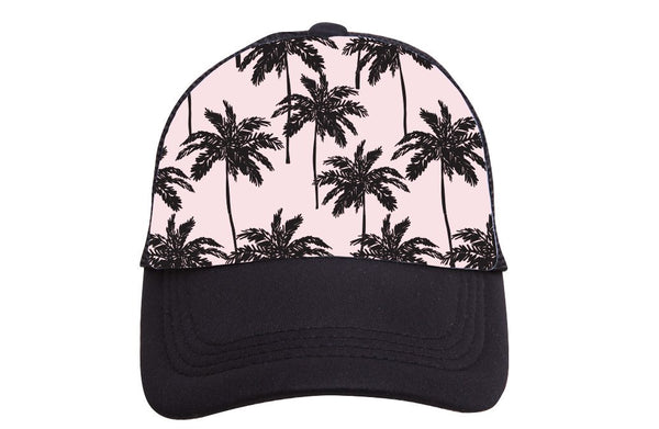 Pink Palm Trees Adult Hat