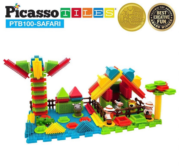 100 Piece Safari Theme Building Set