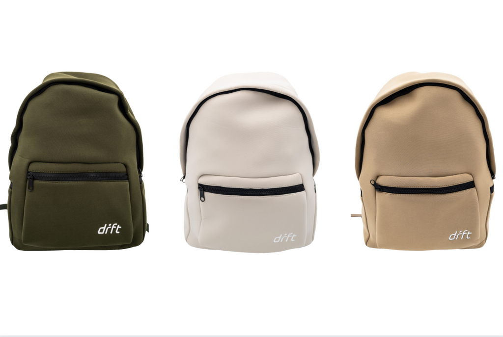 Neoprene water resistant backpacks