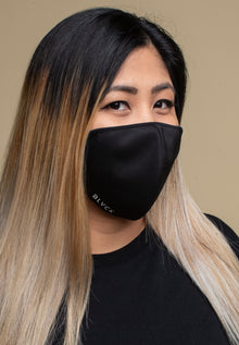 ALL BLACK REUSABLE & WASHABLE DAILY MASK