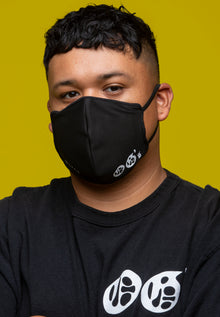 (OG'S) LIMITED EDITION COLLABORATION ALL BLACK REUSABLE & WASHABLE DAILY MASK