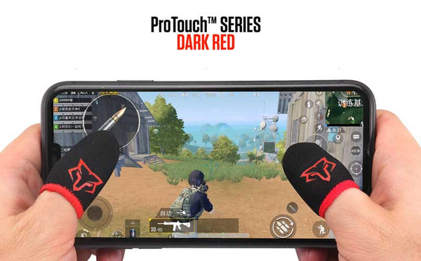 ProTouch™ FOX gaming gloves for sweaty hands | Dark Red