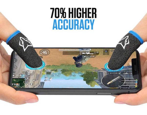 ProTouch™ Fox gaming gloves for sweaty hands | Blue V2