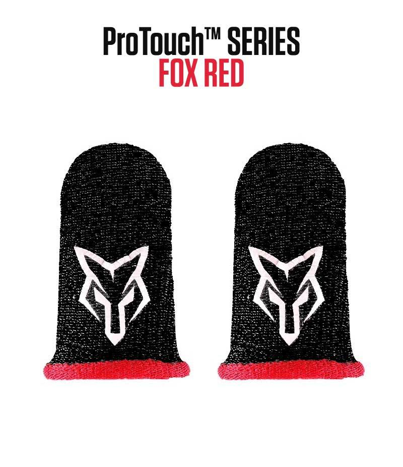 ProTouch™ FOX compression gloves for gaming | Red