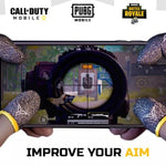 ProTouch™ DG gaming gloves for sweaty hands | Yellow Combo