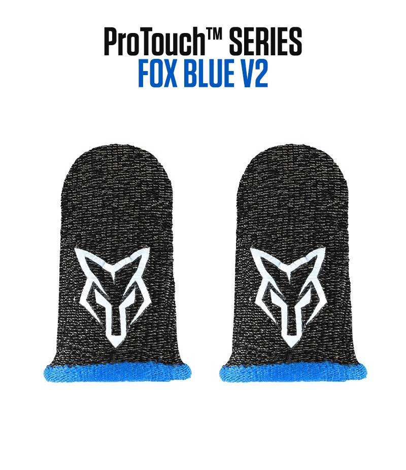 ProTouch™ FOX compression gloves for gaming | Blue V2