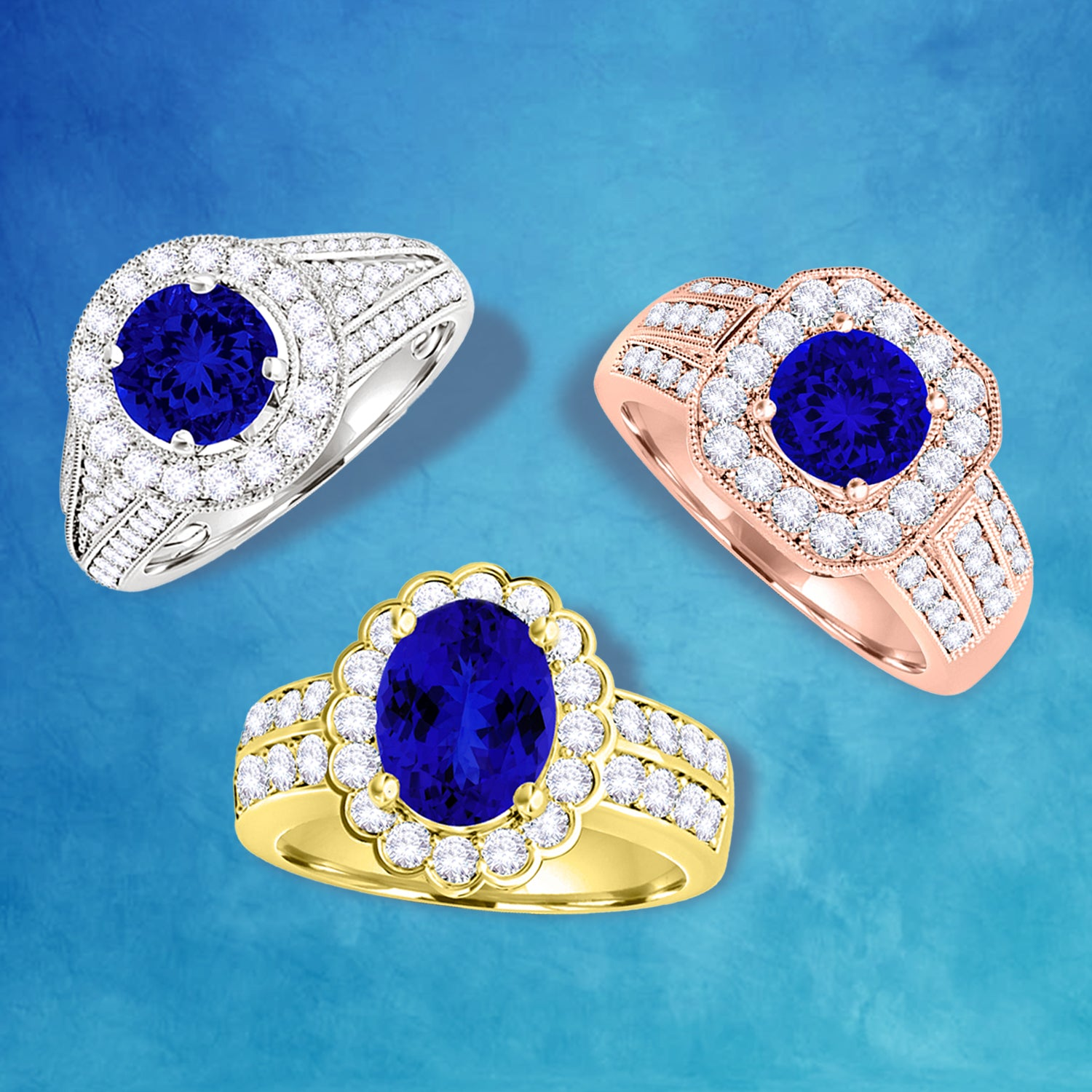 Can't decide between our collection of gorgeous rings? Try a custom tanzanite ring