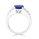 2.46 ct Oval Tanzanite Ring with 0.69 cttw Diamond in 14K WG
