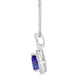 1.63 ct Pear Tanzanite Pendant with 0.33 cttw Diamond in 14K WG