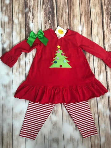 Abielle Christmas Tree 2 Piece Outfit