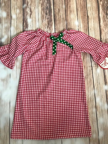 Funtasia Too! Red Gingham Christmas Dress