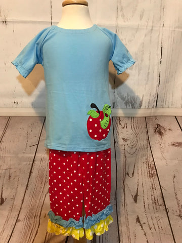 Apple 2 piece back to school set