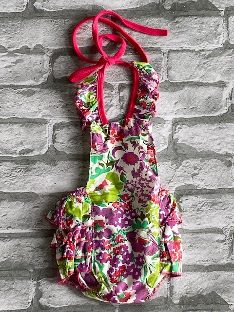 Infants Floral Halter One Piece