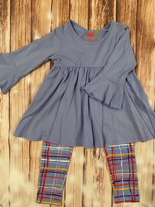 Three Friends Blue Striped Two Piece Set