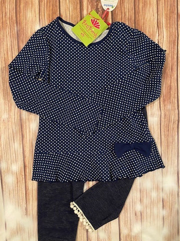 Three Friends Blue Polka Dot 2 Piece Set