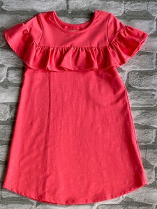 Mabel & Honey Coral Ruffled Dress