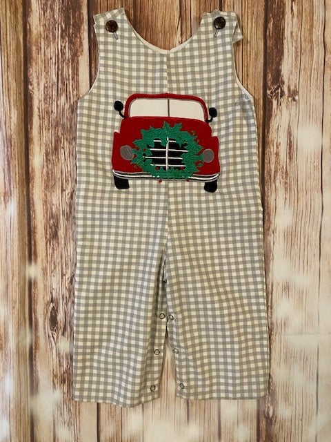 LaJenn's One Piece Boy's Christmas Truck Romper