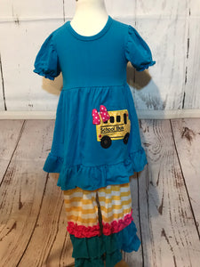 Teal School Bus 2 piece