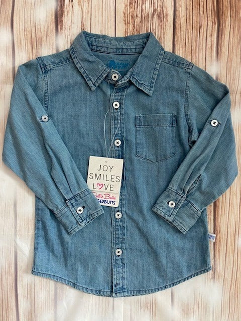 Rugged Butts Denim Button Up Shirt