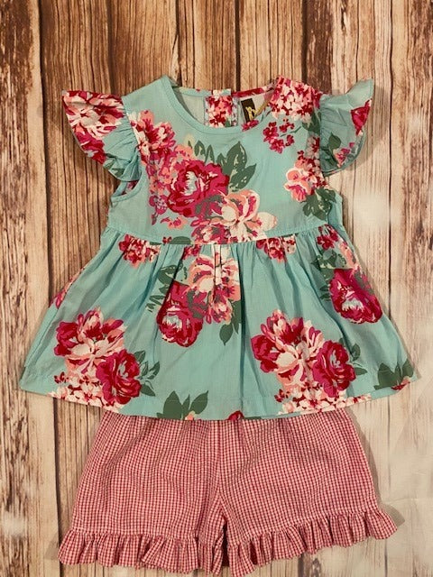 Banana Split Floral 2 Piece Short Set