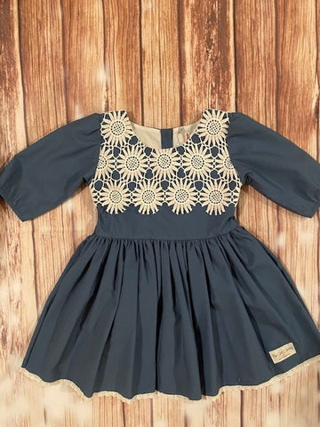 Peacock Green Lace Dress