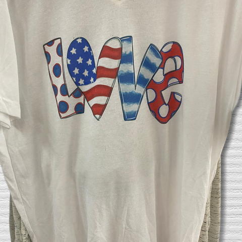 Patriotic Love V-neck Tshirt