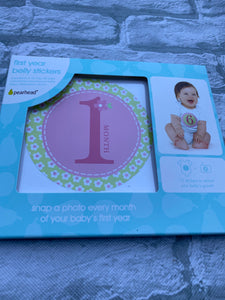 Girl Baby First Year Belly Stickers