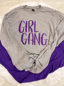 "Ladies Long Sleeve ""Girl Gang"" Tshirt"