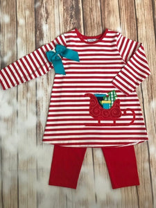 Three Sisters Christmas Sleigh 2 Piece Outfit