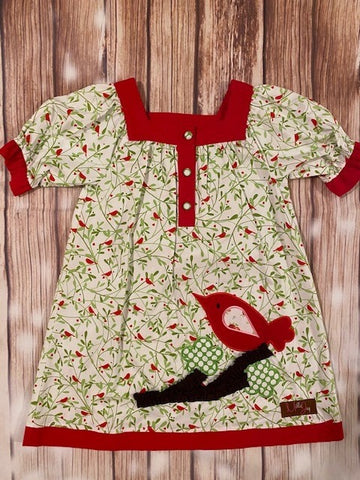 Millie & Jay Red Bird Dress