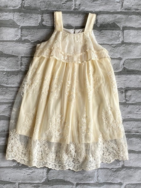 Girl's Ivory Isobella & Chloe Lace Dress